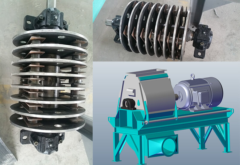 Waterdrop Fish Feed Crusher Design and Hammer